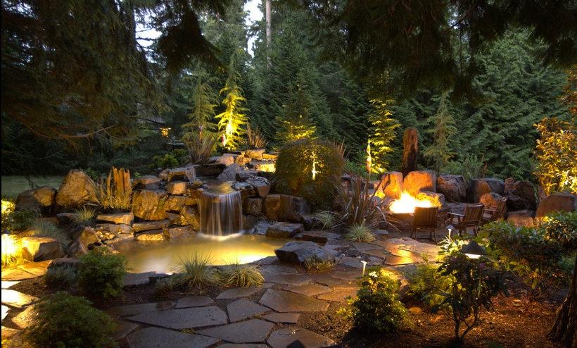 Backyard Lighting Medium