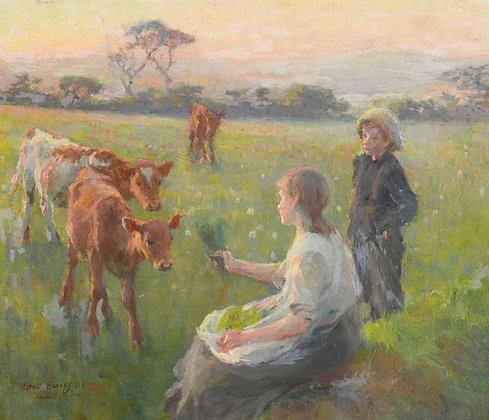HAROLD HARVEY | Feeding the Calves