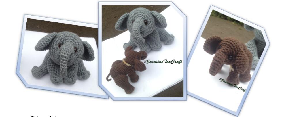 Pink crochet elephant pattern | Crochet elephant pattern, Crochet ... | 407x986