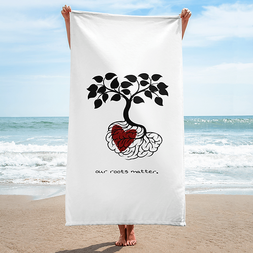 Our Roots Matter, Heart In Roots Towel