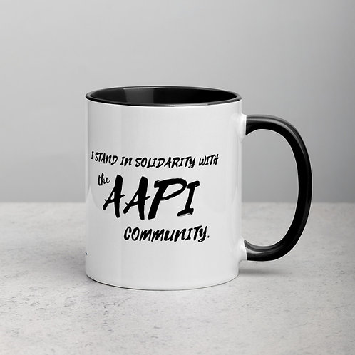 I Stand In Solidarity With The AAPI Community Mug, Color Inside