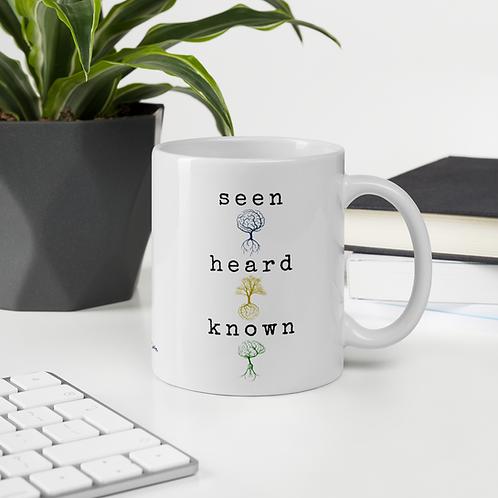 Seen, Heard, and Known Mug