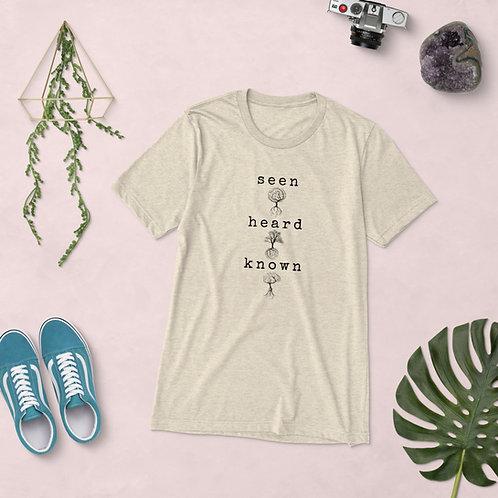 Seen, Heard, Known Unisex Triblend T-shirt