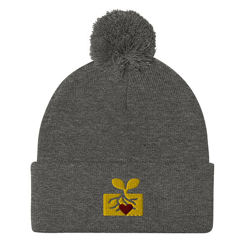 Heart In Roots Pom-Pom Beanie