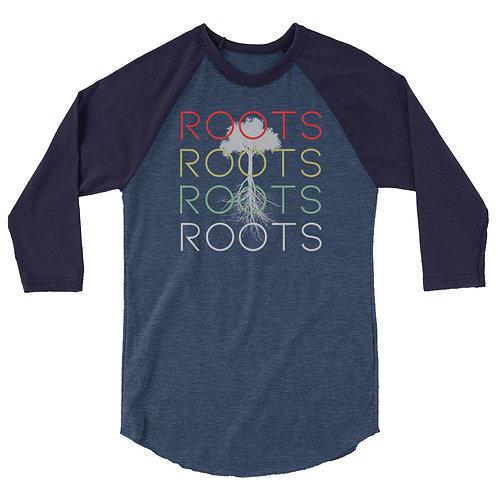 Roots 3/4 Sleeve Raglan Unisex Shirt copy
