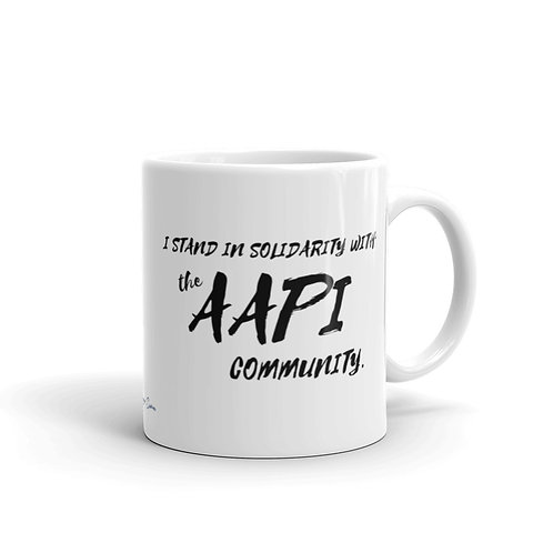 I Stand In Solidarity With AAPI Mug