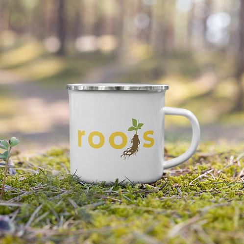 Roots Enamel Mug