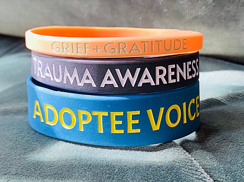 Adoption Awareness Silicone Wristbands