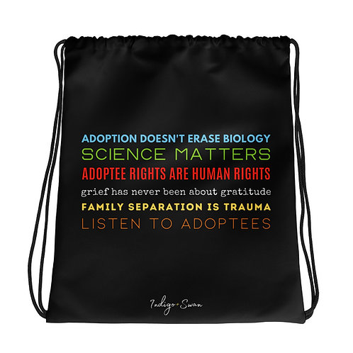 Listen To Adoptees Drawstring Bag