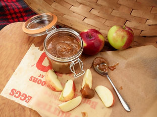 Apples with Spiced, Spiked Honey Caramel