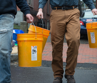 You can see We Compost It's orange buckets on city sidewalks and in country driveways from Kennebunk to Brunswick and Inland to Lewiston.