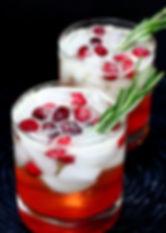 Cranberry Bourbon Spritzer