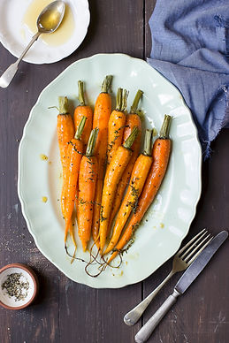 Young Carrots with Lemon, Thyme, and Olive Oil