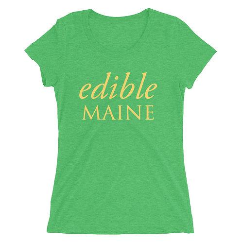Ladies t-shirt (yellow logo)