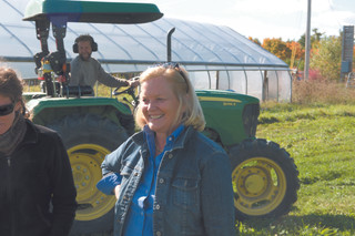Pingree's Turner Farm raises organic vegetables, flowers, and herbs, as well as beef, pork, and dairy products, much of it ending up on the table at her inn, Nebo Lodge.