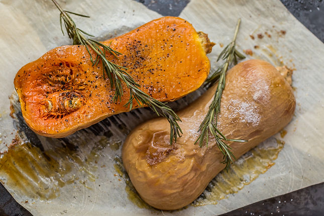 Braised Butternut Squash with Figs and Rosemary