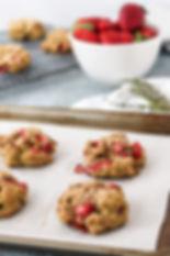Strawberry Thyme Buckwheat Scones