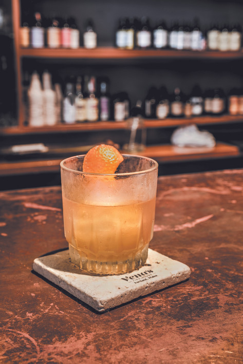 Vena's Fizz House Maple Pear Old Fashioned
