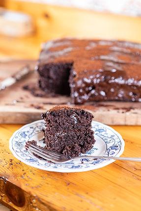 Vegan Chocolate Cake with Chocolate-Espresso Frosting