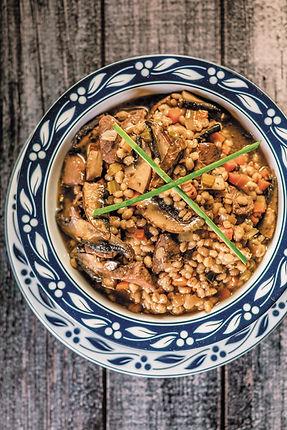 Beef, Barley, and Portobello Mushroom Soup