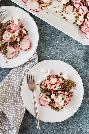 Greek Radish and Lentil Salad