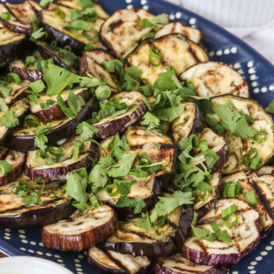 Grilled Eggplant with Tahini Sauce