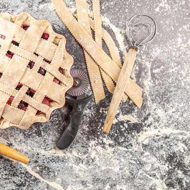 Bumbleberry Rhubarb Lattice-Topped Pie