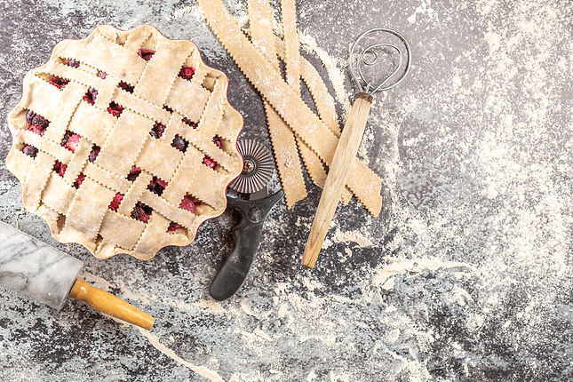 Bumbleberry Rhubarb Lattice-Topped Pie