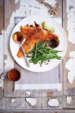 Honey- and Soy-Glazed Brook Trout