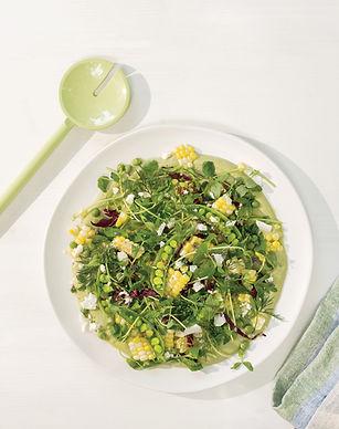 Fresh Corn Salad with Peas and Herbs