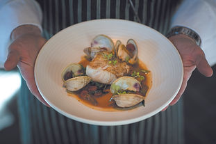 Pan-Seared Cod and Littleneck Clams with Soy Brown Butter