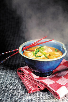 Thai Coconut Broth with Lobster Wontons