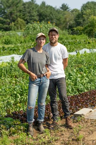 Owners of Steelbow Farm, Finegan Ferreboeuf and Jason Gold