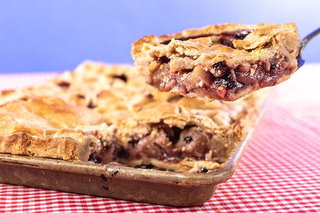 Elderberry Apple Slab Pie