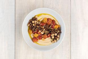 Warm Lamb, Chickpea, and Hummus Bowls