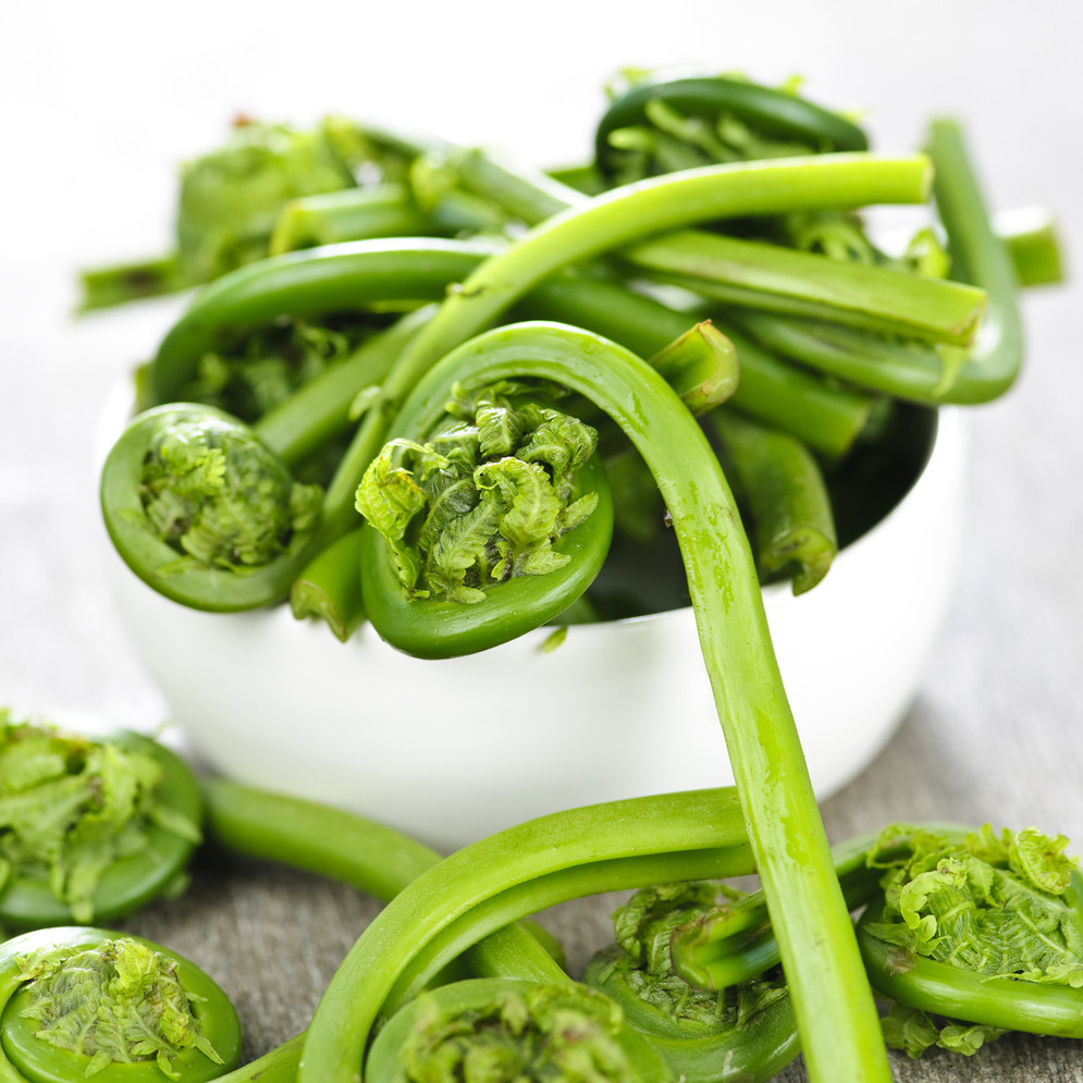 Sautéed Fiddleheads with Kate's Butter