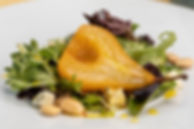 Pear and Blue Cheese Salad with Saffron Vinaigrette