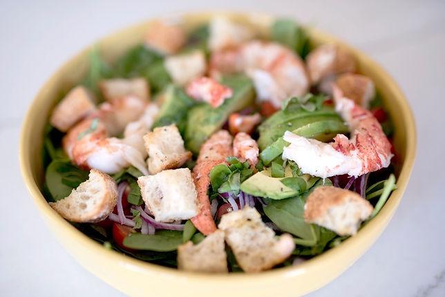 Springtime Lobster Panzanella Salad with Lemon Dijon Vinaigrette