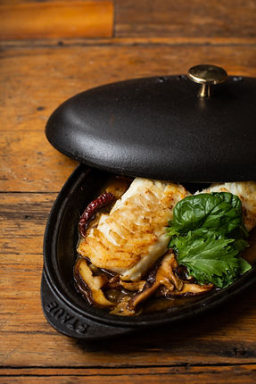 Seared Flaky White Fish with a Spicy Ginger Soy Sauce
