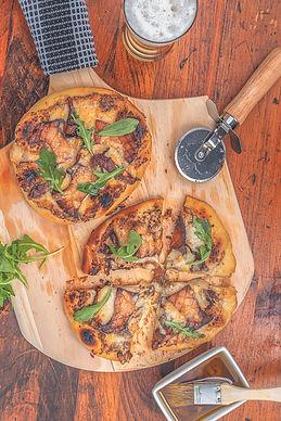 Grilled Wild Maine Mushroom Pizza