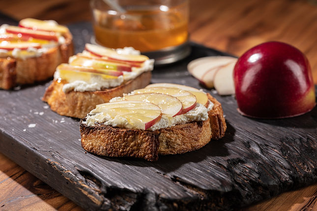Honey, Apple, and Ricotta Tartine
