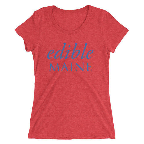 Ladies t-shirt (blue logo)