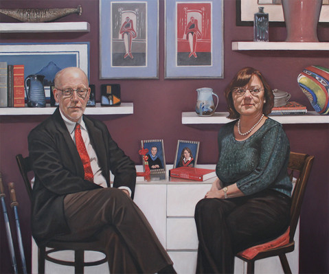Jeff & Carol  oil on linen  Private collection, Ontario, Canada