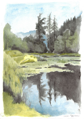 The Egelsee watercolour on paper 25 x 35 cm.  SOLD
