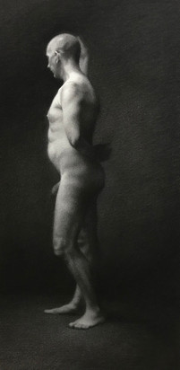 Flamenco 50 x 70 cm charcoal on Arches paper  Available