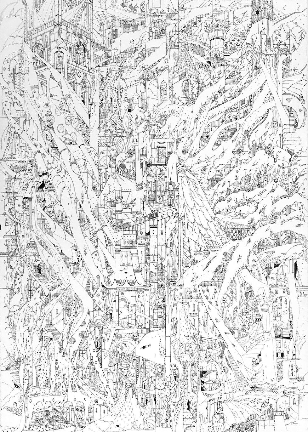 Carolin Prinn, art, illustration, pen and ink art