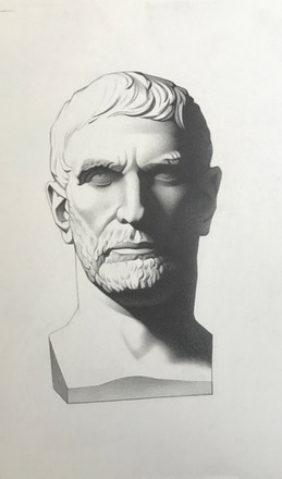 Brutus graphite on paper  Available