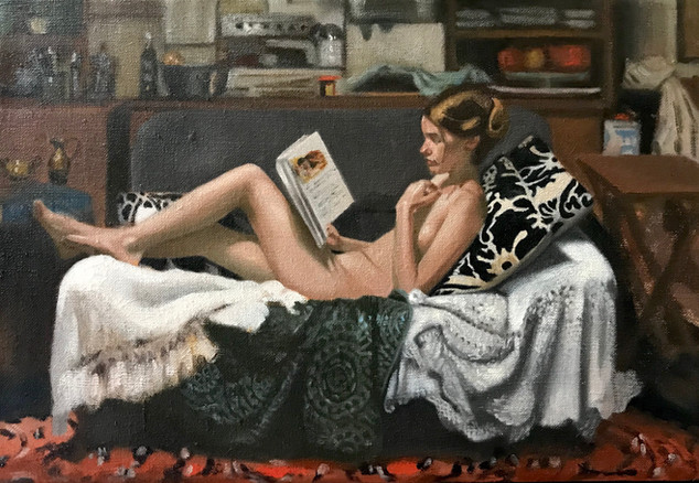 The Book of Tales 24 x 35 cm oil on belgian linen  SOLD