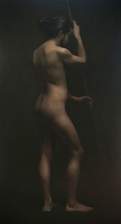 Figure Painting 50 x 95 cm oil on Belgian linen  Available