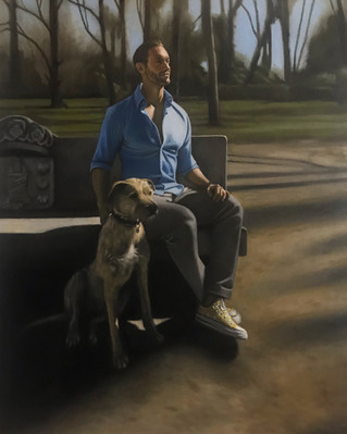 Jon & Milo oil on linen  Private collection, Madrid, Spain